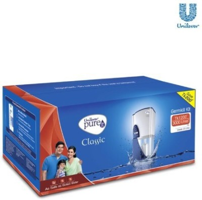 Hindustan Unilever Germ Kill Kit 23 L Gravity Based Water Purifier (White, Black)