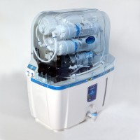 Hemex Blue Gold 10 L RO + UF Water Purifier (White, Blue)