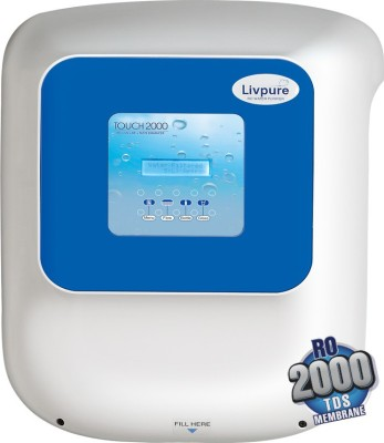 Livpure Touch 2000 8.5 L RO + UF Water Purifier (White)