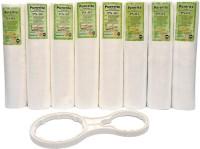 COSMOS Kemflow Pre- Spun Filter Pack Of 8 & MultiSpanner 0 L RO Water Purifier (White)