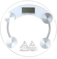 CreativeVia Accurate Body Fat Monitor Round Weighing Scale (Transparent)