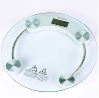 CreativeVia Personal Health Body Checkup Fitness Round Weighing Scale (Transparent)