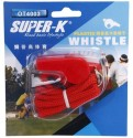 Super-K With Kernel Pealess Whistle - Red, Pack Of 1