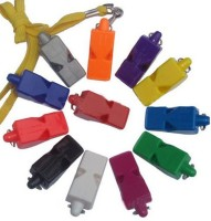 Sahni Sports Official Plastic Pealess Whistle (Multicolor, Pack Of 12)