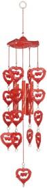 Indigo Creatives Love Red Fengshui Plastic Wind chime Plastic Windchime