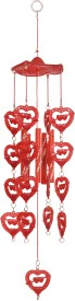 Indigo Creatives Love Red Fengshui Plastic Windchime