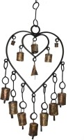 Boxmywish Double Heart Iron, Brass Windchime