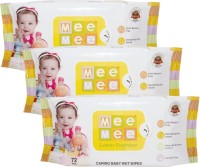 Mee Mee Caring Baby Wet Wipes With Aloe Vera (72 Pcs) (Pack Of 3) (3 Pieces)
