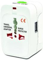 Gade Multiplug With USB Worldwide Adaptor White