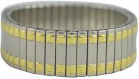 Alphaman Golden Silver Steps Of Success Bracelet Men Wrist Band - Gold, Silver, Pack Of 1