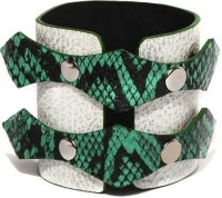 Fume Green Leather 119 Boys, Girls Wrist Band (Green, Pack Of 1)