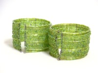 The Bedifferent Store Bangle Bracelet BG01Ga2 Women Wrist Band Green, Pack of 2