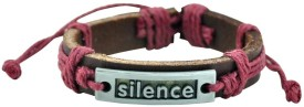 Alpha Man Silence Is The Language Of Love Men Wrist Band (Multicolor, Pack Of 1)