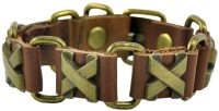 Alphaman Chills And Thrills Cross Men Wrist Band (Brown, Green, Pack Of 1)