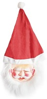 Indiangiftemporium Christmas Wear Santa Claus Party Mask (Red, Pack Of 1)