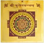 Numeroastro Shri Kuber Yantra Gold Plated