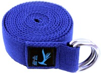 Top Yogi Belt Dark Cotton Yoga Strap (Blue)