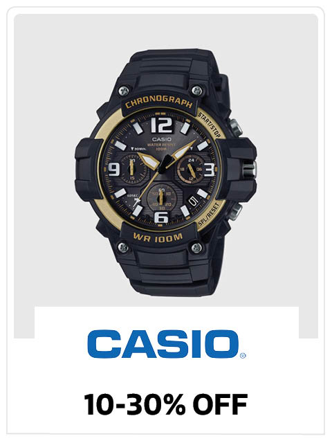 10-30% Off on Casio