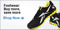 Buy Footwear worth Rs 1499 get 15% off, worth Rs 2499 get 20% off