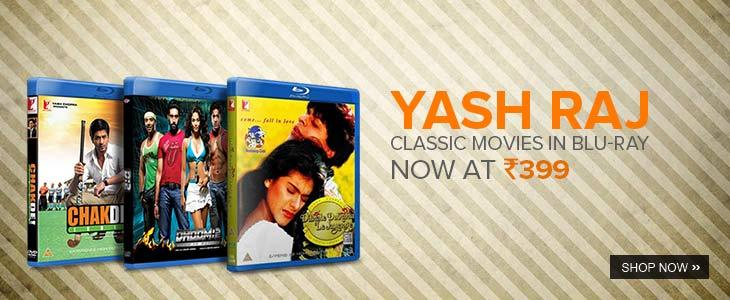 yash raj movies in bluray @ 399 only from flipkart