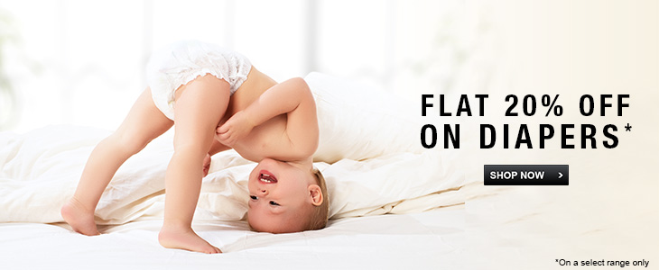 Flat 20% off -  Baby Care Diapers