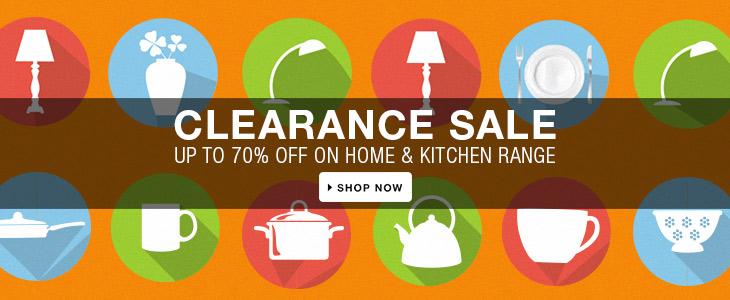 Flipkart: Clearance Sale – Upto 70% OFF on Home & Kitchen Range