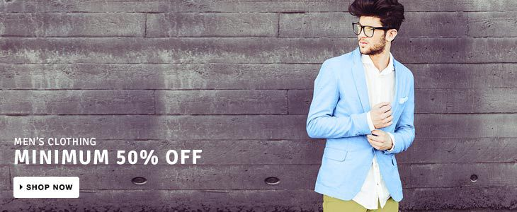 Minimum 50% off On Men's Clothing