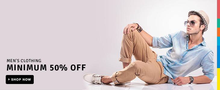 Men's Clothing: Minimum 50% Off