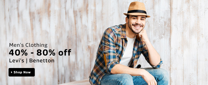 Men's Clothing - EXTRA 30% to 40% OFF