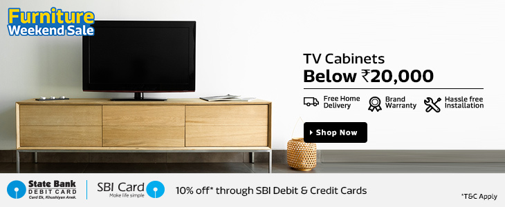 Flipkart Furniture Weekend Sale - Upto 80% Off + Extra 10% Off (SBI Card Holders)