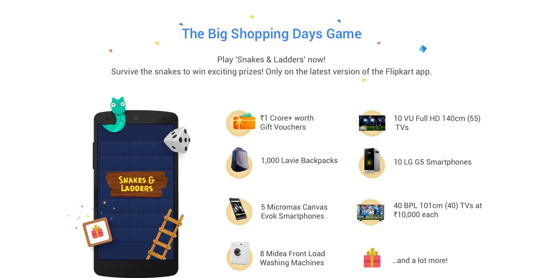 Flipkart Big Shopping Days Game offers