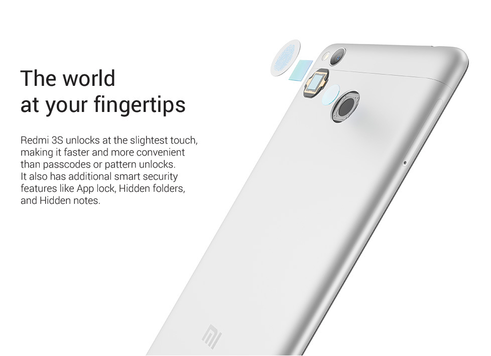 Redmi 3s unlocks at slightest finger touch Redmi 3 s coupons promo codes cashback offers key features