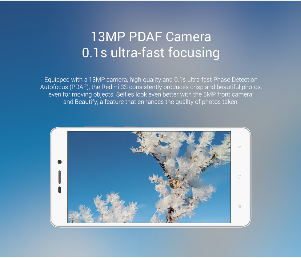 Redmi 3s 13MP PDAF Camera 0.1s ultra fast focusing Redmi 3s flipkart coupons promo codes cashback offers