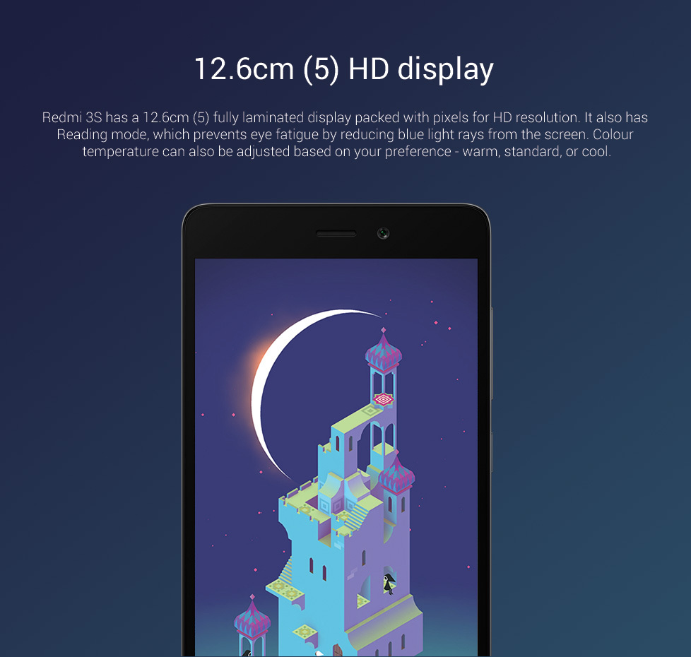 Redmi 3S has 12.6 cm (5) HD display redmi 3s coupons promo codes and cashback offers
