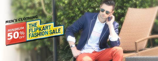 Deals | Flipkart - Men'S Clothing - Minimum 50% Off