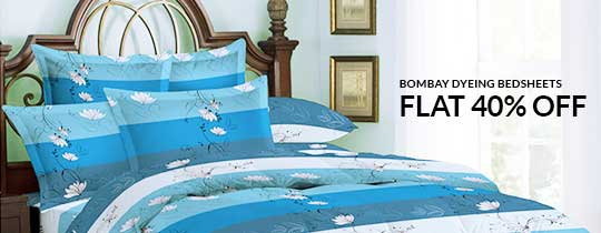 Deals | Flat 50% Off On Bombay Dyeing Bedsheets