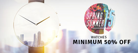 Deals - Delhi - Minimum 50% Off On Watches <Br> Category - Watches <br> Business - Flipkart.com