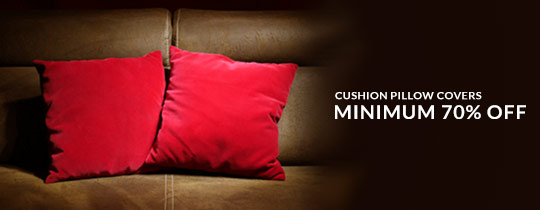 Deals | Cushion Pillow Covers - Minimum 70% Off