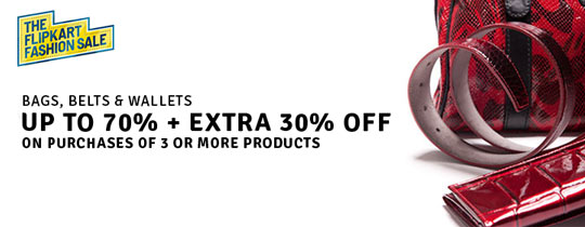 Deals | Bag, Belt & Wallet-UP TO 70% + EXTRA 30% OFF