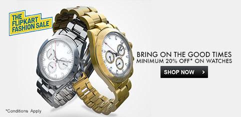 Deals - Delhi - minimum 20% off on watches<br>Business - Flipkart.com