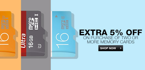 Deals | EXTRA 5% OFF on purchase of 2 or more Memory Cards